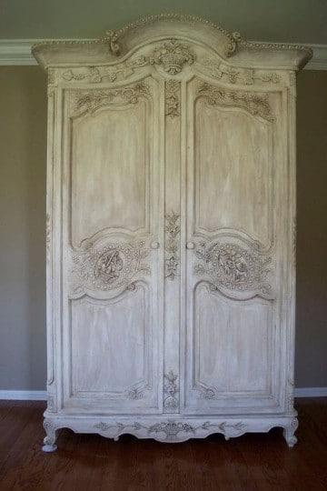muebles blancos vintage antiguos