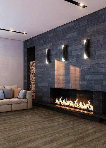 Dise os unicos en salones modernos con chimenea como for Salones con chimeneas electricas