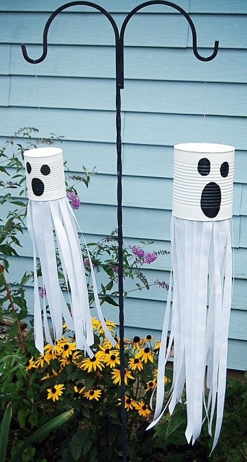 adornos caseros para halloween para el jardin
