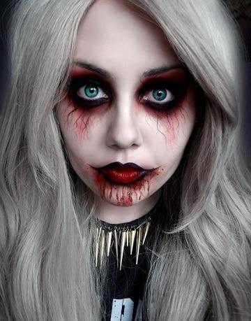 caras pintadas para halloween escalofriante