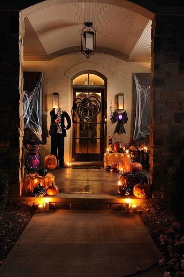 casas decoradas de halloween ideas