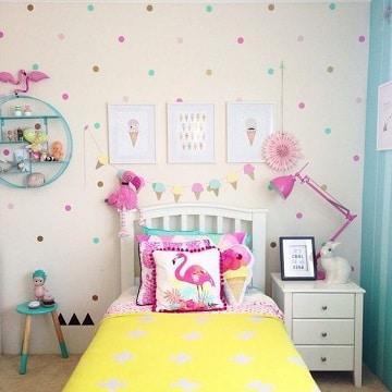 colores para habitaciones de niñas con detalles