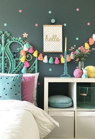 colores para habitaciones de niñas oscuros