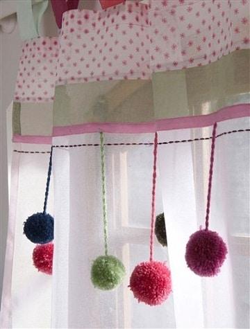 cortinas para recamara de niña manualidades
