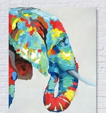 cuadros de animales al oleo multicolores