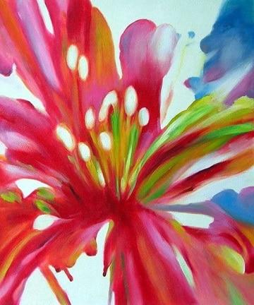 cuadros de flores grandes simples