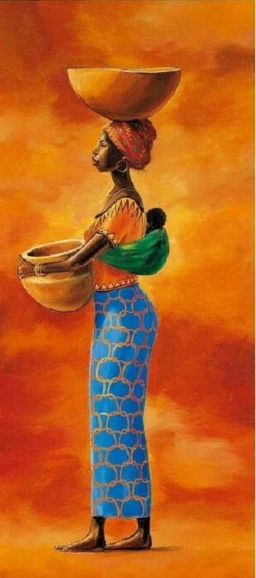 cuadros de mujeres africanas costumbres