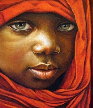 cuadros de mujeres africanas rostro