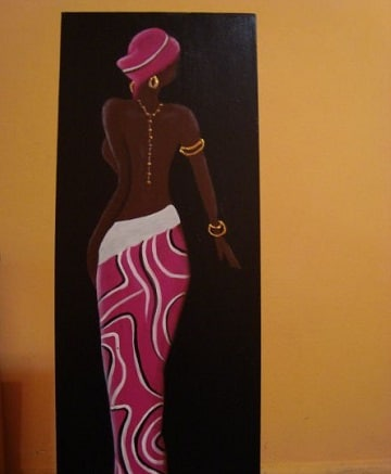 cuadros de mujeres africanas vestimenta