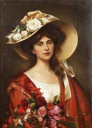 cuadros de mujeres con sombrero historica