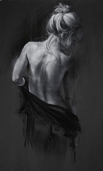 cuadros de mujeres de espalda hiperrealista