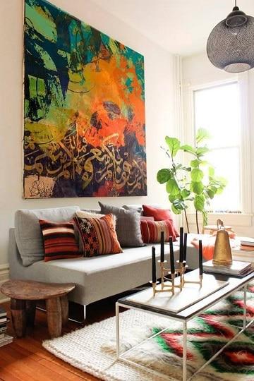 Imagenes y pinturas de cuadros grandes para sala como for Cuadros en country para comedor