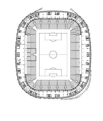dibujos de estadios de futbol grandes