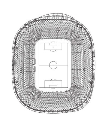 dibujos de estadios de futbol plano