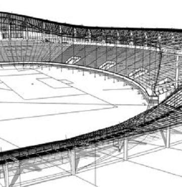 dibujos de estadios de futbol profesional