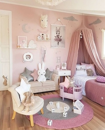 diseños de cuartos de niñas modernos