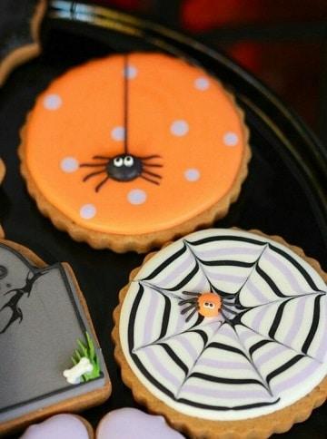 dulces decorados para halloween tartaletas