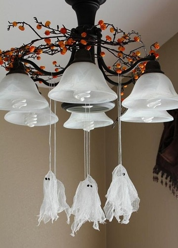 fantasmas para decorar halloween colgantes