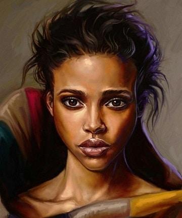 imagenes de pinturas de mujeres de color