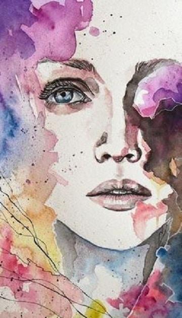 imagenes de pinturas de mujeres de colores