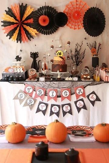 mesas decoradas para halloween diseños