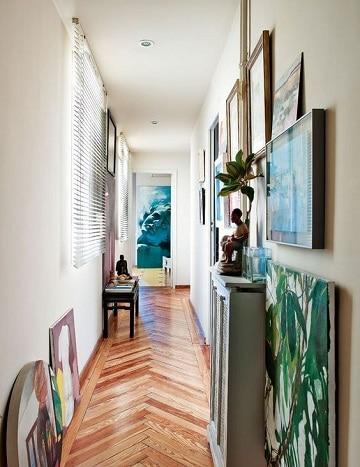 muebles para pasillos estrechos arte