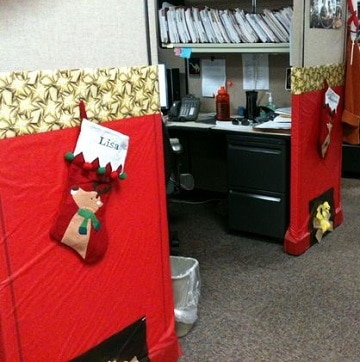Ideas sencillas para oficinas decoradas de navidad for Decoracion navidena para oficinas