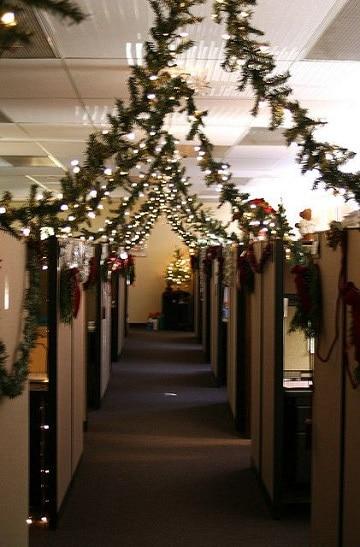 Ideas sencillas para oficinas decoradas de navidad - Decoracion navidena para oficinas ...