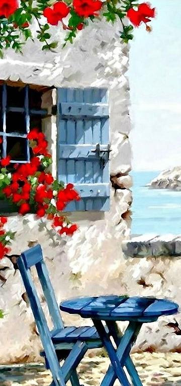 paisajes pintados con acuarela ideas