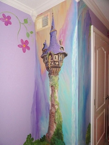 paredes decoradas para niños de princesa
