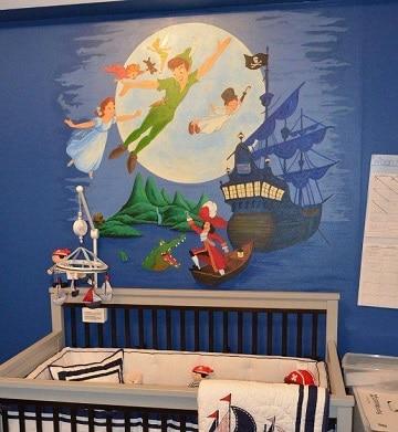 paredes decoradas para niños varones