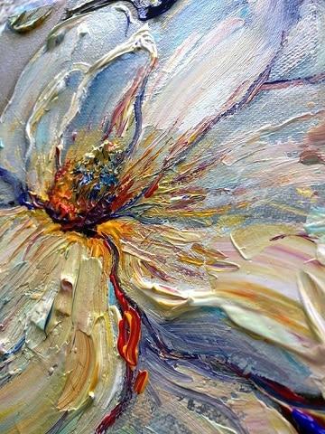 pinturas abstractas al oleo flores