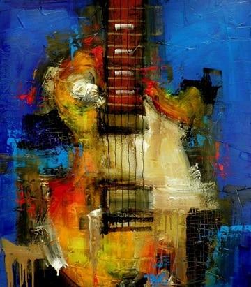 pinturas abstractas al oleo intrumentos