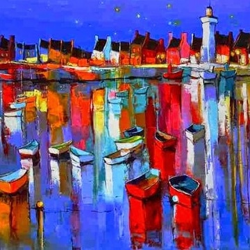 pinturas al oleo marinas ciudad
