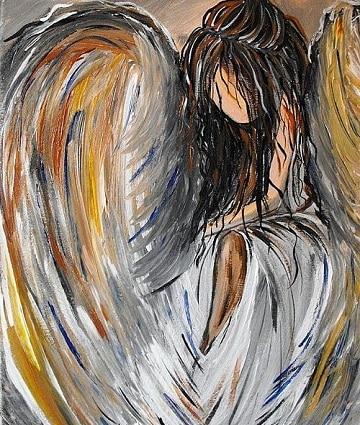 pinturas de angeles al oleo mujeres