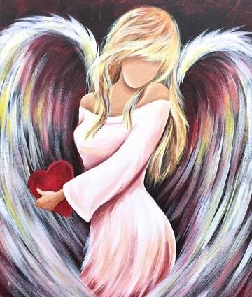 pinturas de angeles al oleo sin rostro