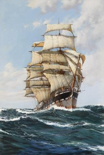 pinturas de barcos en el mar al oleo
