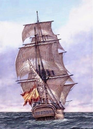 pinturas de barcos en el mar de la historia