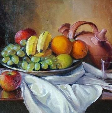 pinturas de bodegones al oleo con frutas