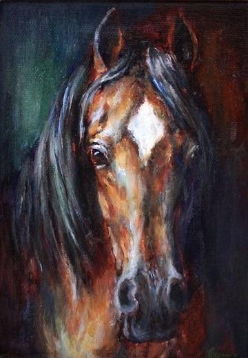 pinturas de caballos al oleo profesional
