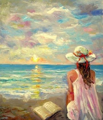 pinturas de marinas al oleo con personas
