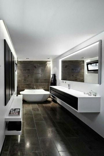 baños con ceramica negra grandes