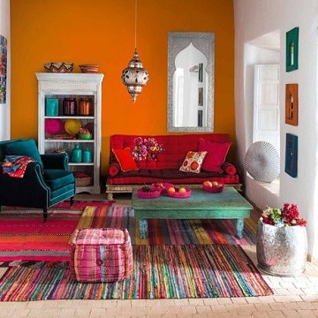 casas color naranja hippie