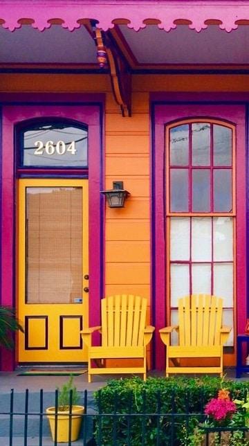casas color naranja y varios colores