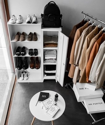 closet para cuartos pequeños elegante