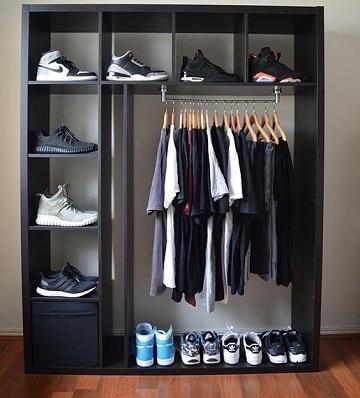closet para cuartos pequeños para hombre