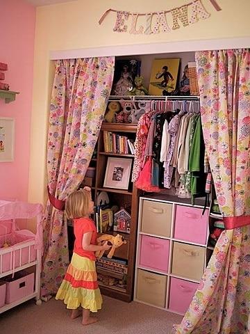closet para cuartos pequeños para niña