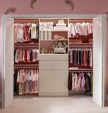 Dise os y modelos de closet para ni os modernos como for Closet en madera para habitaciones