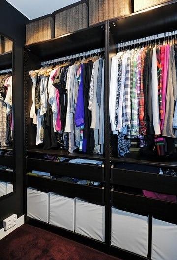 closets modernos para mujeres negros