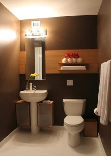 colores marrones para paredes de baño